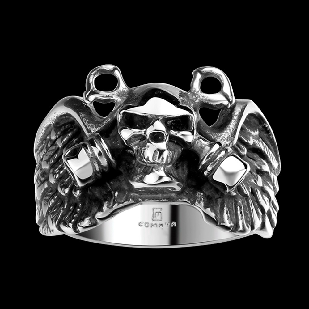 skull wedding bands promotion-shop for promotional skull wedding