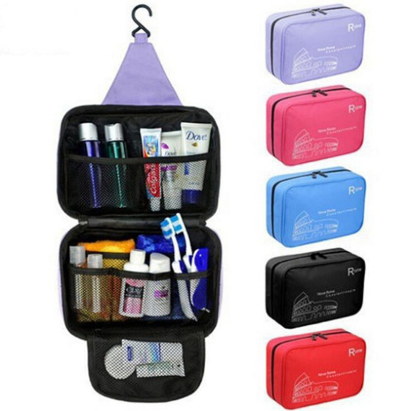 Travel Cosmetic Bag Women Men Makeup Bag Hanging Portable Cosmetics Organizer Bath Waterproof Case Necessaries Toiletry Storage цена
