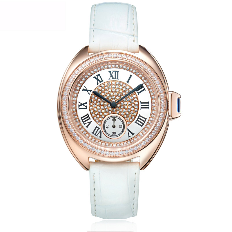 Rose Gold Sports Watches Woman Quartz Watch Ladies Full Diamond Dress Watch Female Steel Waterproof Clock Top Brand Luxury Table