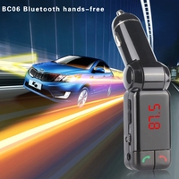 High Quality New Car Handsfree Bluetooth Receiver MP3 Player FM Transmitter Dual USB Output Kit JUL21