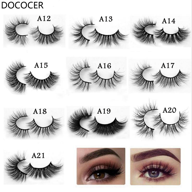 Eyelashes 3D Mink Eyelashes Crossing Mink Lashes Hand Made Full Strip Eye Lashes 23 Styles New Package Makeup DOCOCER image
