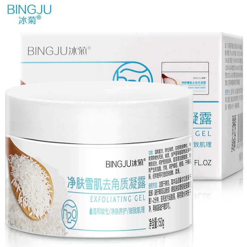 BINGJU Peeling Gel Facial Exfoliating Peeling Lotion Scrub Deep Clean Acne Blackhead Remove Face Cleanser Whitening oil control