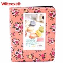 WILTEEXS 64 Pockets Flower Photo Album Wedding for 3 Inch Mini Instant Fuji Instax Name Card Album de Fotografia 7s 8 9 25 50s