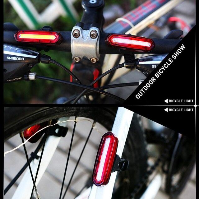 Farol para bicicleta mtb de 120 lúmens, à prova d' água, usb, recarregável, luzes traseiras, led, lanterna, ciclismo, acessórios 6