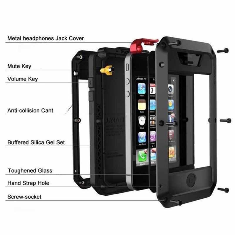 Сверхмощная защита Doom armor металлический алюминиевый Телефон чехол для iPhone 6 S 7 8 Plus xr Xs max 4S 5SE 5C противоударный пылезащитный чехол