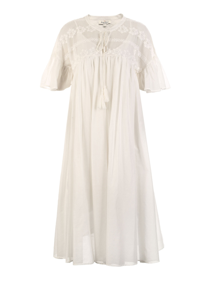 Vero Moda 19 New Women's Royal National Style Embroidered Flared Sleeves Comfortable Homewear Dress | 31917B508 18