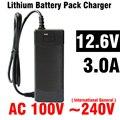 1 pcs Preto Adaptador DC para 18650 bateria de lítio Celular DC 12.6 V 2A AC 100-240 V Conversor Adaptador de Alimentação DA UE EUA REINO UNIDO Plugue