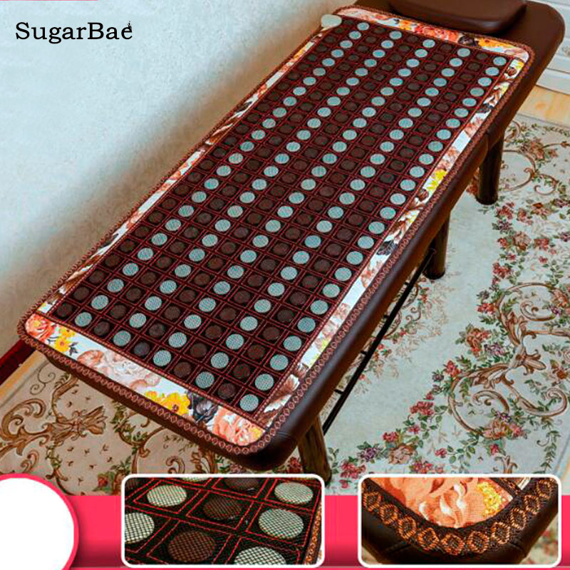 New Heating Jade Stone Infrared Massage Sofa Cushion with Temperature Display Bed Sofa Mattress Health Care Germanium Stone Mat new style popular in thailand health care hot stone tourmaline heating bed jade heating pad bed mattress as seen on tv