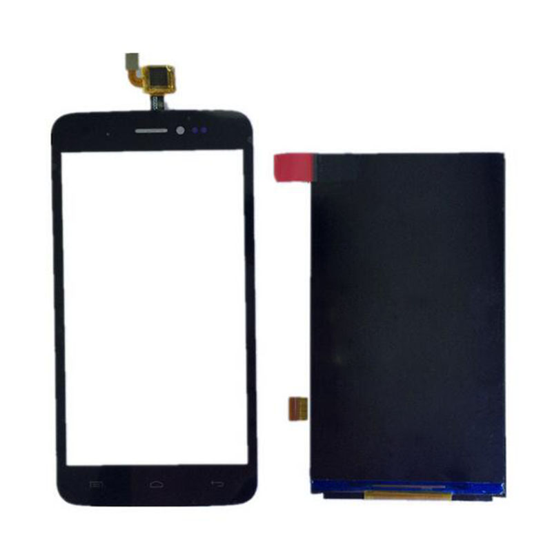 5'' Black High Quality Front Touch Screen Digitizer Panel Sensor Glass Lens +LCD Replacement For Wiko Lenny  high quality for fly iq4417 touch screen lcd assembly digitizer sensor front glass lens panel free shipping black white