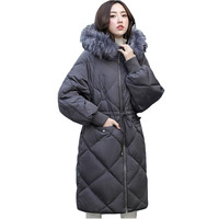Plus size 6XL winter parkas womens 2018 high quality Down cotton jackets Raccoon fur collar hoodies top Thicken long coats H553