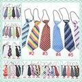Ropa de los niños pajarita corbata niños niñas niños lazos corbata rayas Kids Plaid sólidos lazos de impresión en color 30 unids LD001
