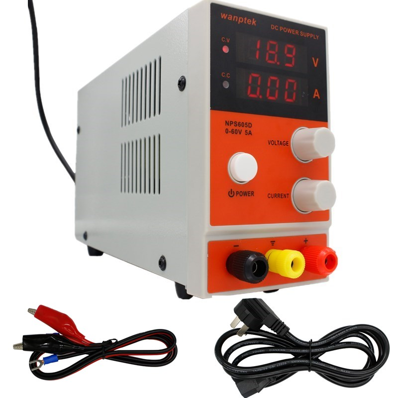 60V 5A DC Regulated Power Adjustable Switching  Power Supply, NPS605D Digital display 0.1V 0.01A bench power supply60V 5A DC Regulated Power Adjustable Switching  Power Supply, NPS605D Digital display 0.1V 0.01A bench power supply