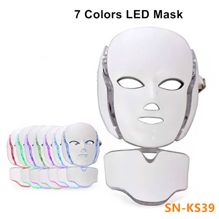 7 Colors PDT LED Mask Skin Whitening Skin Rejuvenation Photon LED Light Therapy Face Neck Home Use Skin Care Facial Machine7 Colors PDT LED Mask Skin Whitening Skin Rejuvenation Photon LED Light Therapy Face Neck Home Use Skin Care Facial Machine