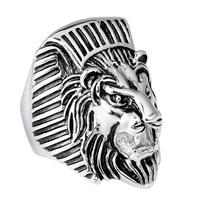 Heyrock Herrenmode 316 Edelstahl Kühler Tier Lion Kopf Ringe Punk Persönlichkeit Zubehör Für Party Geschenke Größe