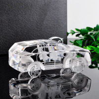 AOCAI 120mm crystal suv car styling craft Figurines Miniatures Decoration Crafts Wedding gift