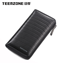 Men Wallets Brand Teemzone Mens Wallet Leather Genuine Cowhide Men's Clutch Bags Business Casual Purses And Handbags Man Bag
