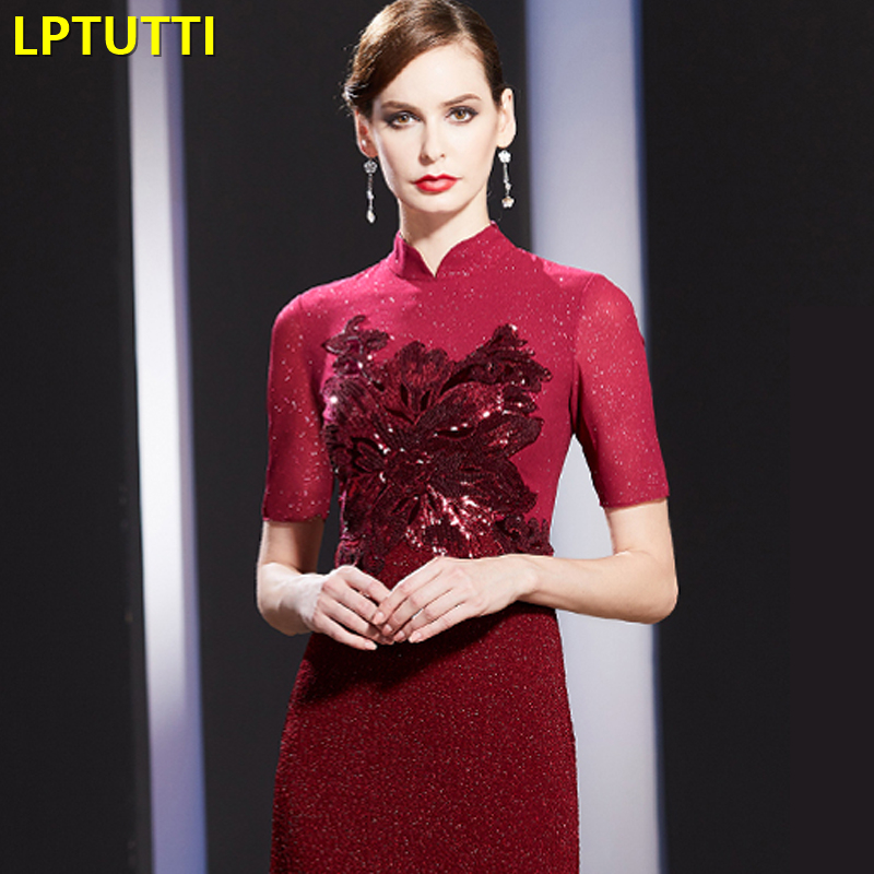 LPTUTTI Sequin New Sexy Woman Plus Size Social Festive Elegant Formal Prom Party Gowns Fancy Short Luxury Cocktail Dresses