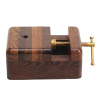 Wenge rectangular seal carving tool wood mahogany bed jig Indian chapter of stone tool factory outlets