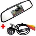"HD CCD 170 Lens Angle 4LED Car Rearview Rear view Parking Camera+5"" TFT LCD Mirror Monitor Reversing Backup Camera Auto Parking"