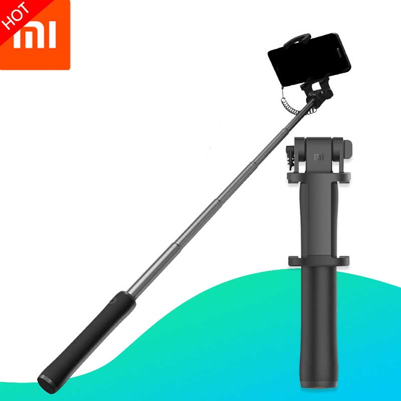 Xiaomi Selfie Sticks Wired Remote Mini Rotatable Foldable Extendable Handheld Selfie Sticks For IOS/Android/Xiaomi