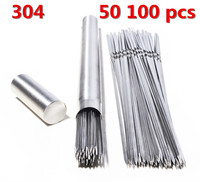 304 Stainless Steel 50 100pcs Barbeque BBQ Needle Stick Barrel Roast Kebab Meat Skewers Outdoor Camping Picnic tools grilling