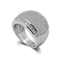 Festa da moda jóias de prata esterlina. vestido de noiva mulher anéis. sólida 925 anel de prata grande. índice personalidade anel de dedo