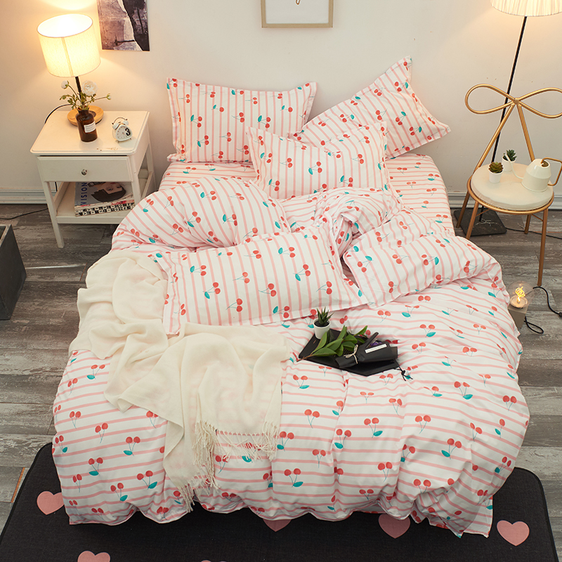 Best Wensd Quality King Comforter Set Bedding Pink Princess Bed Cover Set Sweet Style Bed Set Pillow Cover Sheets For Girl Women Bedding Sets Aliexpress
