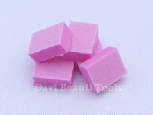 1000PCS/LOT pink mini sponge sanding block emery board nail tools files for nail care Nail Art manicure accessories Freeshipping