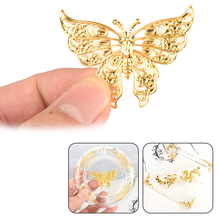 Jewelry Filling Sticker for DIY Ashtray 10pcs Dragon Fan Leaves Butterfly Metal Material epoxy Mold makeing цена в Москве и Питере