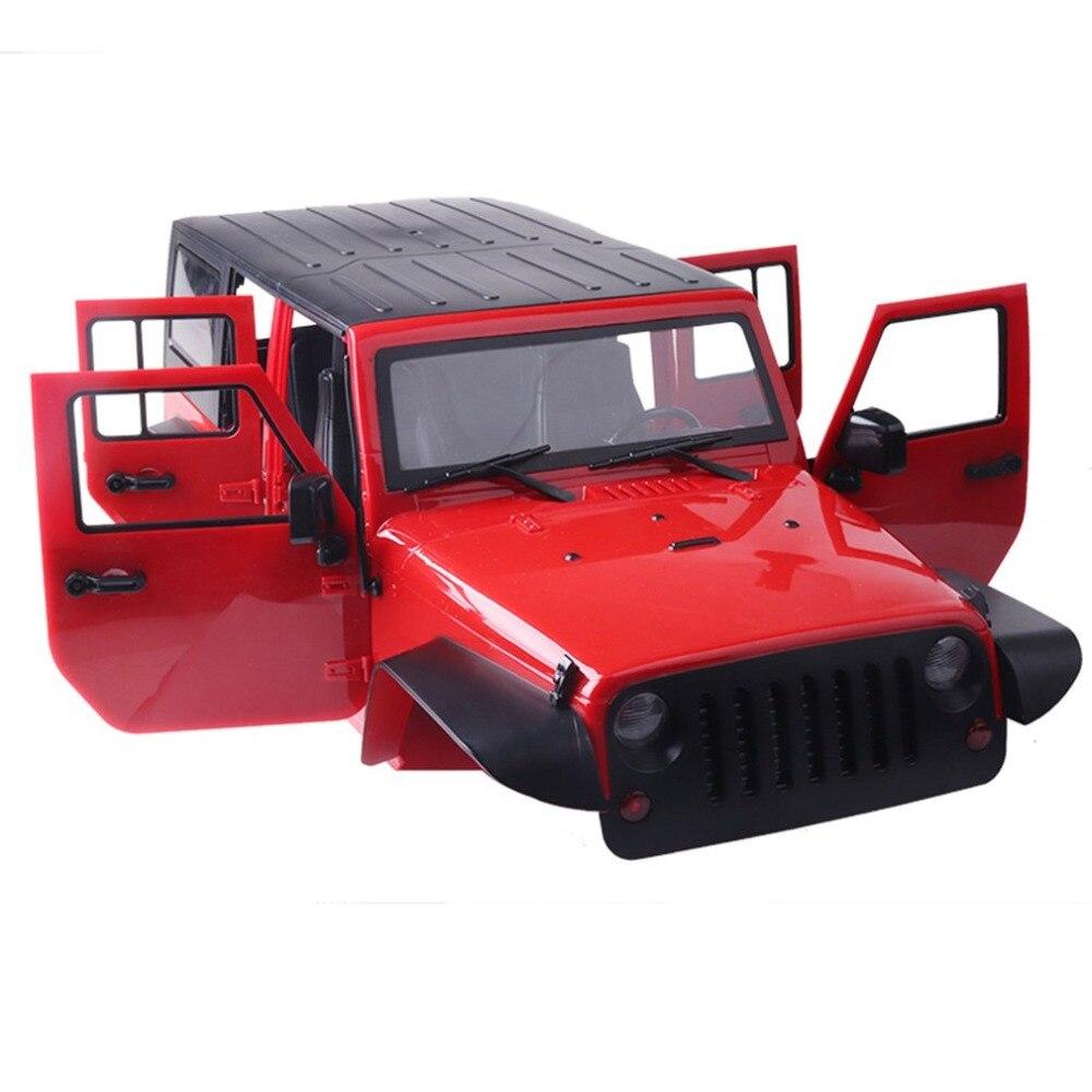 Dur En Plastique RC Coquille De Voiture 313mm Shell Corps DIY Kit pour 313mm Empattement 1/10 Wrangler Jeep Axial SCX10 voiture Sur Chenilles Véhicule Modèle