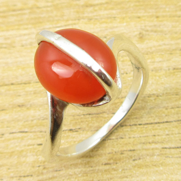 Silver Overlay Natural CARNELIAN ANTIQUE LOOK Ring Size 6 WHOLESALE PRICE