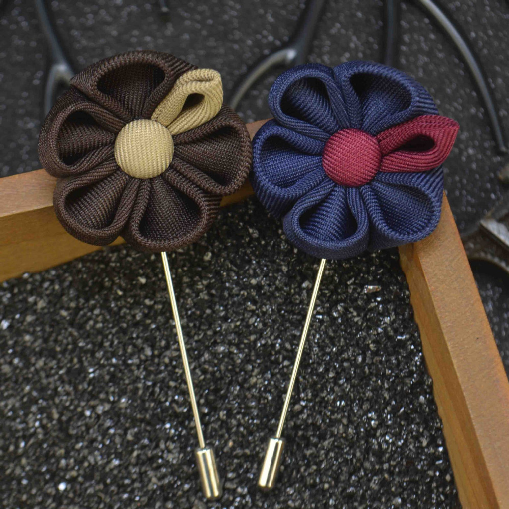 Mens jacket brooch - Mdiger Wholesale Lapel Flower Pin Brooches For Men Suits Wedding Flower Corsage Jacket Lapel Pin Stick