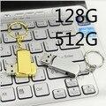 16G 32 GB 128G 512G fresco super mini rotação USB Flash Drive U Disco criativo USB 2.0 Drive de Memória da Vara Pen presente criativo S110