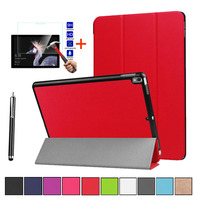 Stand Case Cover For Microsoft Surface Pro 6 12.3 Shockproof Leather Premium Magnetic Protective Case+ Tempered Glass / Pen