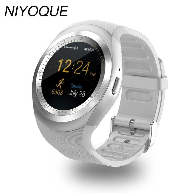 imágenes para Y1 Apoyo Reloj Inteligente Tarjeta Nano SIM y Tarjeta de TF con Whatsapp y Facebook y Twitter APLICACIÓN Smartwatch