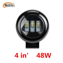 OKEEN Runde 4 zoll Auto LED Arbeit Licht 48 W Spot LED Licht Bar 12 V 24 V Offroad Lkw traktor Boot Anhänger 4x4 SUV ATV Nebel Lampe Bike