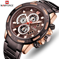 NAVIFORCE Men Quartz Watch Top Marca de Luxo Relógios dos homens de Negócios Fashion Sport Chronograph Data Relógio de Pulso Relogio masculino
