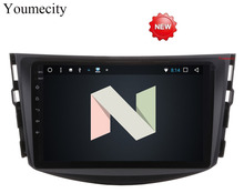 Youmecity NEW !!!Android 7.1 car dvd player for Toyota RAV4 Rav 4 2007 2008 2009 2010 2011 2 din 1024*600 car dvd gps wifi rds