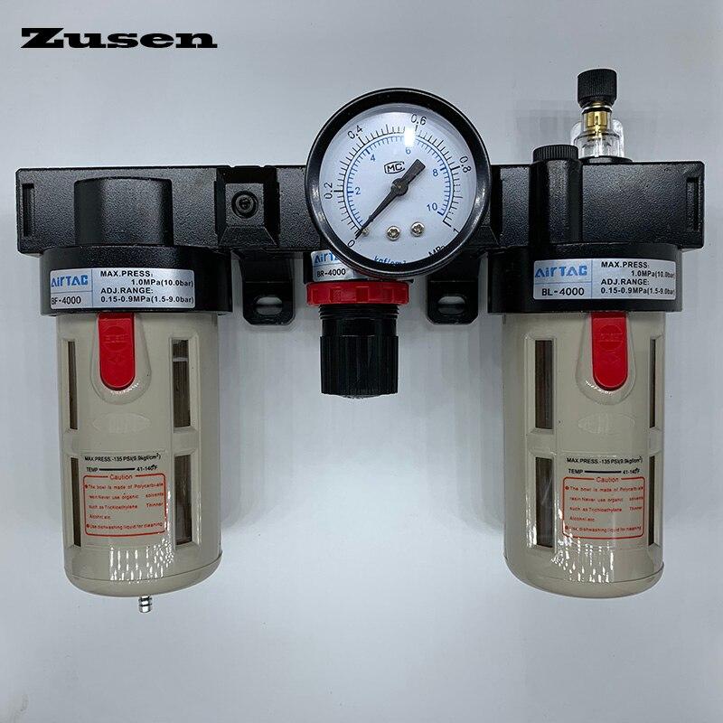 Zusen BC2000 BC3000 BC4000 1/4 1/2 3/8 Air Combinazione di Filtri Aria Filtro Regolatore di PressioneZusen BC2000 BC3000 BC4000 1/4 1/2 3/8 Air Combinazione di Filtri Aria Filtro Regolatore di Pressione