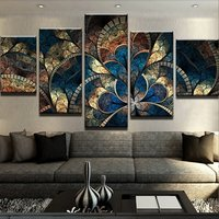 5D DIY diamond painting 5 pcs Fantasy Flowers For Living Room Home Decor Painting Wall Pictures For Living Room square