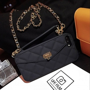 Image 5 - Crossbody Wallet Case Cover For iPhone 12 Pro mini 11 Pro XS MAX XR X 8 Plus Case Card Slot Handbag Purse With Long Strap Chain
