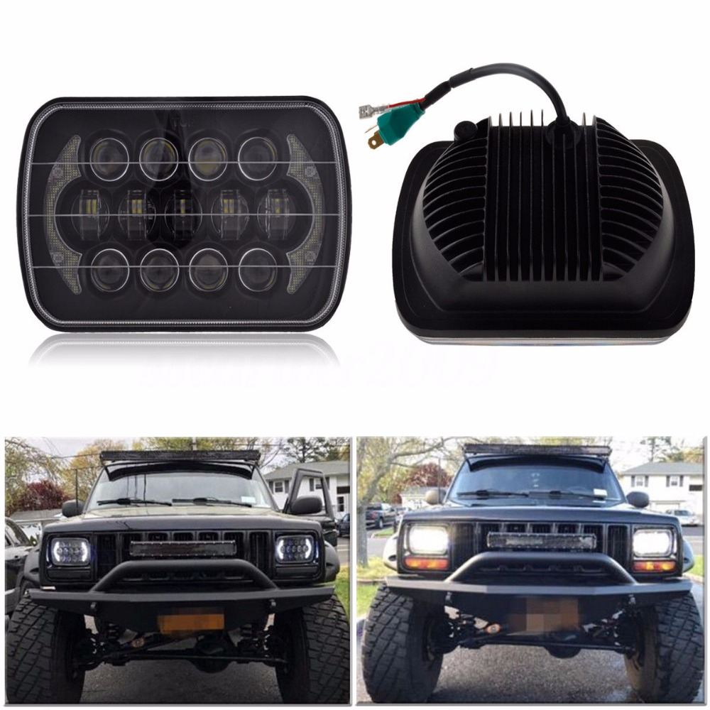 New Design 5 U0026quot  X 7 U0026quot  Led Headlight Replacement For Jeep