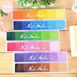 Г-н Бумага 6 цветов постепенно Меняющие цвет красочное длинное подушечка ручная работа, сделай сам, ремесло на масляной основе чернильная