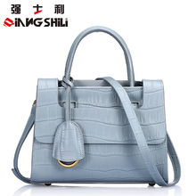 Elegant Crocodile Pattern Portable Bags High Quality Genuine Leather Women's Handbags Girl's Crossbody Bag