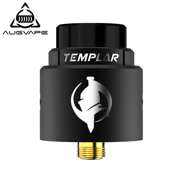 Augvape Templar RDA Atomizer 24mm Taste Type Gold-plated Deck Titanium Alloy Screw PC Top Cover Electronic Cigarette Vape Tank