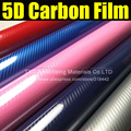 New arrival 5D carbon fiber with more colors for choice with size:30X152CM/LOT Blue red silver 5D carbon film