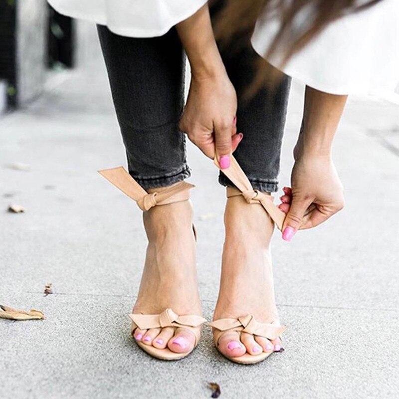 Mode Femmes Souper Noir Véritable Sandales Gladiateur Lace Haute Show Cheville Lacets Cuir Beige Talons as Noeuds Show As En Rouge Chaussures Up Wrap Papillon zqr0xFz