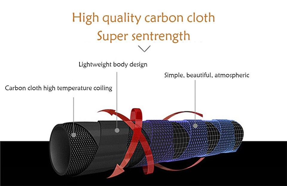 Recém telescópica de fibra carbono super duro