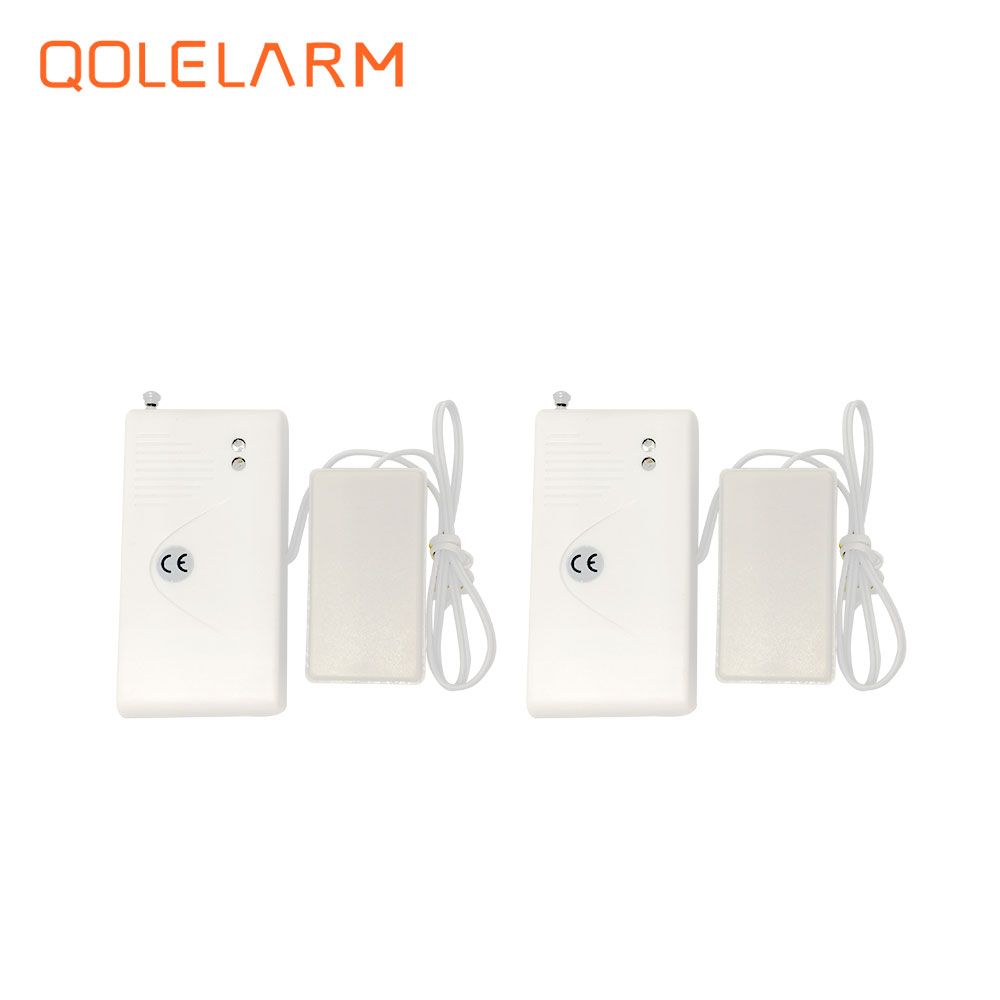 2 pcs Newest 433MHz wireless water leak sensor leakage detector with 2 metal bar inside for GSM GPRS WiFi PSTN alarm system wireless gas leakage detector gas sensor with 433mhz works with g9 wifi gsm alarm system