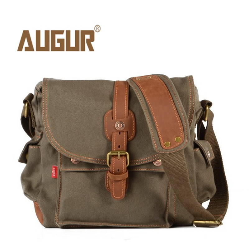 Image 4 - 2017 Canvas Leather Crossbody Bag Men Military Army Vintage Messenger Bags Large Shoulder Bag Casual Travel Bags-in Crossbody Bags from Luggage & Bags